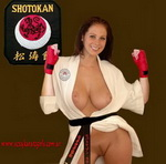Topless Karate Woman